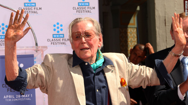 Peter O'Toole, who announced his retirement today, at the 2011 TCM Classic Film Festival