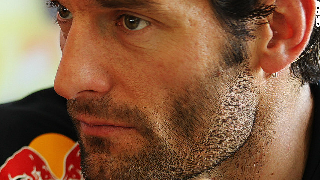 Mark Webber is currently second in the drivers' standings, 13 points behind Ferrari's Fernando Alonso