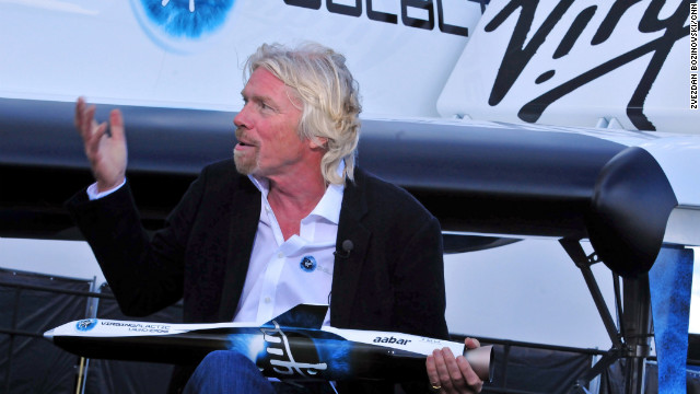 2012: Branson taking people into space