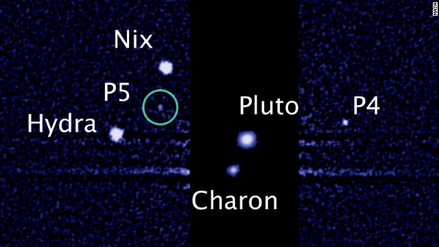 Pluto's many moons