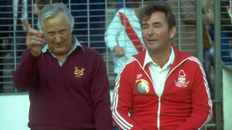 The club's golden era began in 1978 when Forest won the English first division under the guidance of iconic manager Brian Clough, right, and his assistant Peter Taylor.