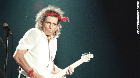 Keith Richards of the Rolling Stones, 1987