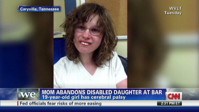 Woman abandons disabled daughter
