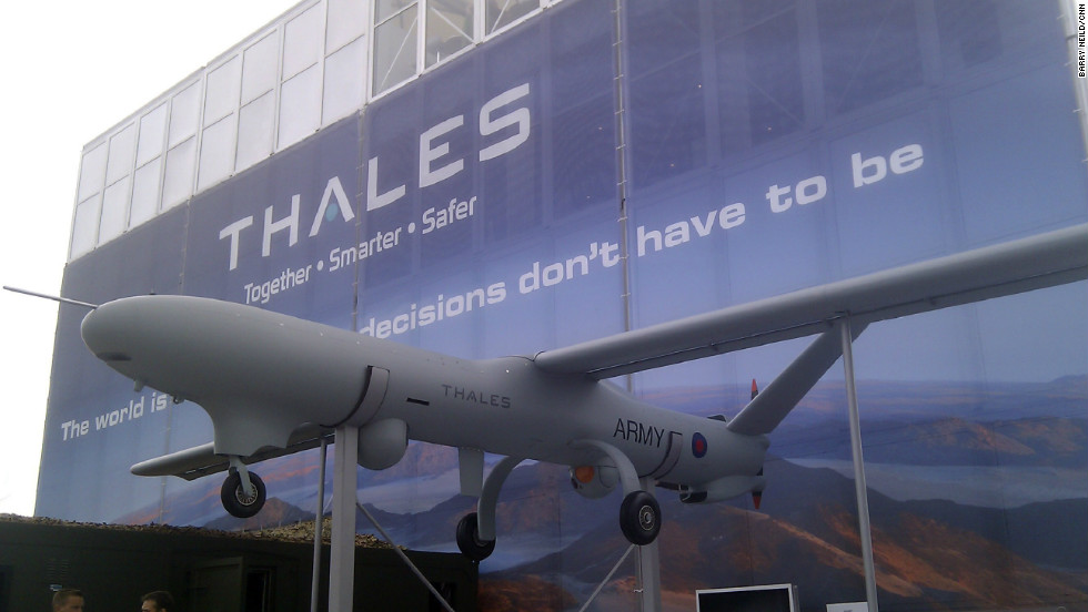 The Watchkeeper drone made by European defense contractor Thales.