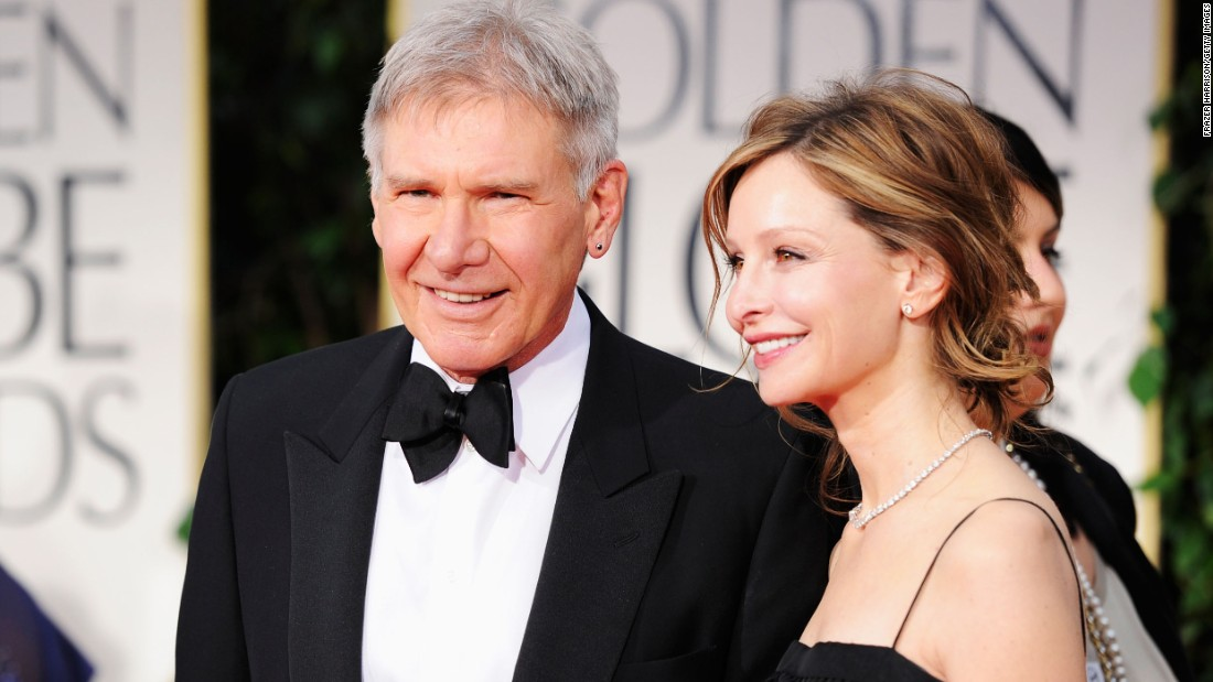 Ford and Flockhart arrive at the Golden Globe Awards in 2012.