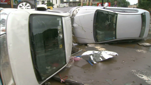 Rain causes havoc on Japanese island