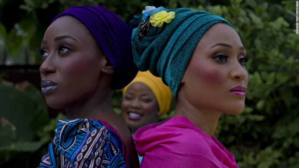Photowagon co-founder Aisha Augie-Kuta captured these models during a shoot for Nigerian make-up artist Mamza Beauty.