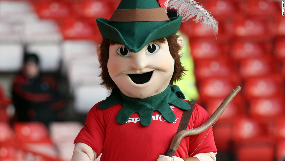 "Forest's ""Robin Hood"" mascot on parade during a third-division match in 2007. The club narrowly avoided a return to that tier last season amid continuing struggles on and off the pitch."