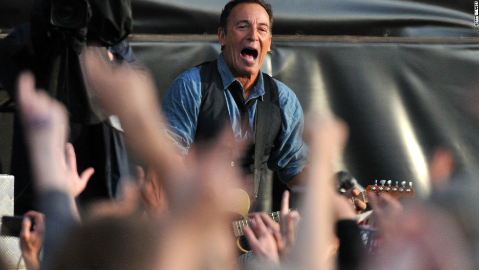Bruce Springsteen plays to his fans at Hard Rock Calling, July 14 2012