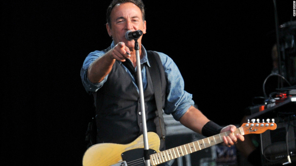 Bruce Springsteen was forced to cut his set short in London when he overran a council curfew.