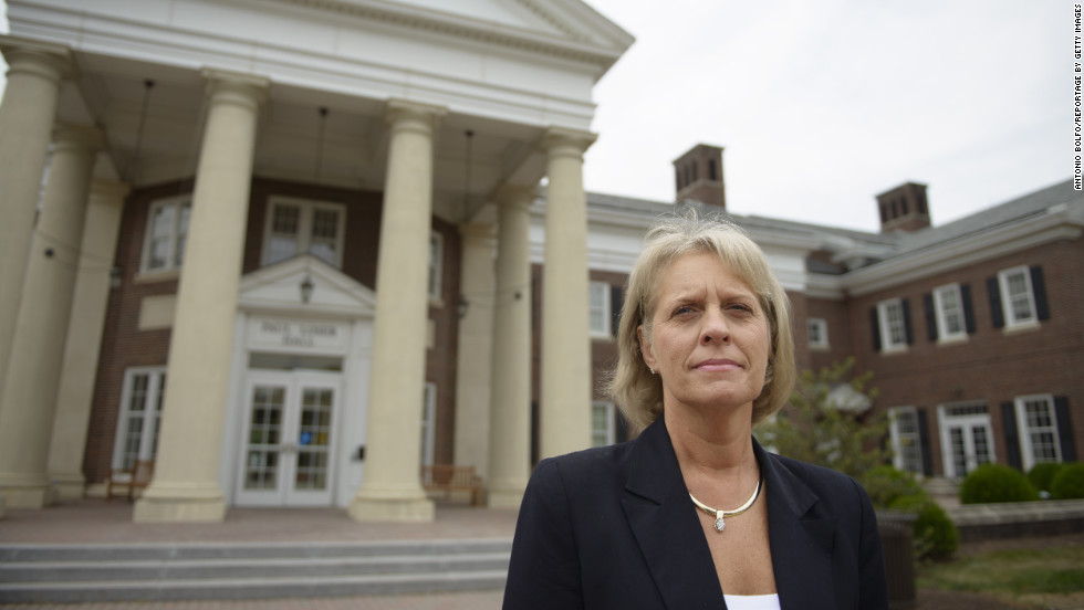 Vicky Triponey, former head of student affairs at Penn State, is photographed on Friday, July 13, at The College of New Jersey, where she's now interim director of student affairs.