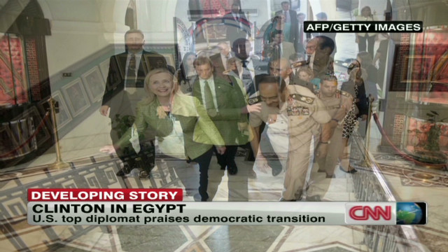 Clinton urges smooth Egypt transition
