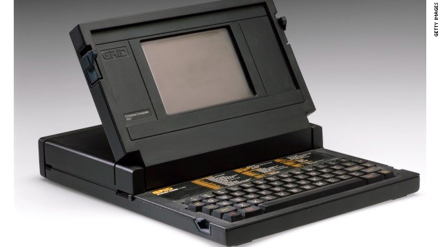The Grid Compass was the first clamshell-case laptop computer.