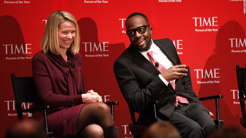 Mayer and musician and activist Wyclef Jean attend TIME's 2010 Person of the Year Panel in November 2010.
