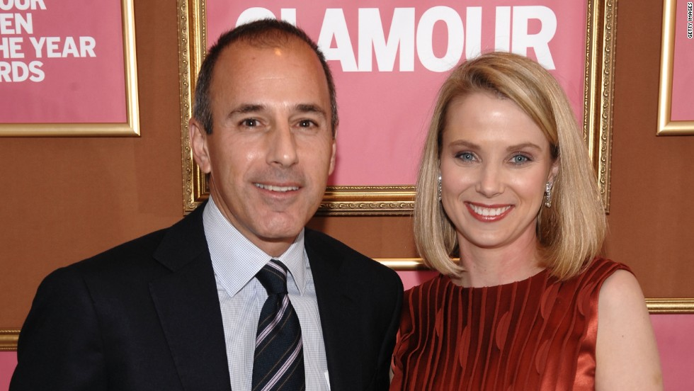 News anchor Matt Lauer and Mayer attend the The 2009 Women of the Year hosted by Glamour Magazine at Carnegie Hall in New York City in November 2009.