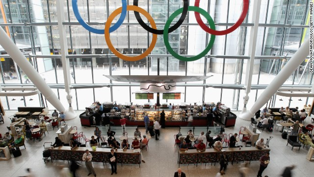 Almost a quarter of a million people will be arriving at London's Heathrow airport as athletes and fans arrive for the Games.