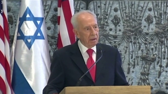 Peres thanks Obama, Clinton