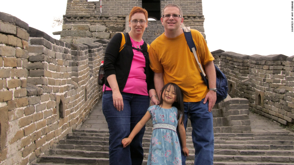 June's parents, Amy Cubbage and Graham Troop, said it's important to teach her about Chinese culture because she didn't have a choice in leaving the country.