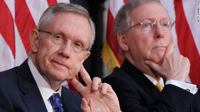 Sens. Harry Reid and Mitch McConnell take opposite sides on the DISCLOSE act, which is stalled in the Senate.