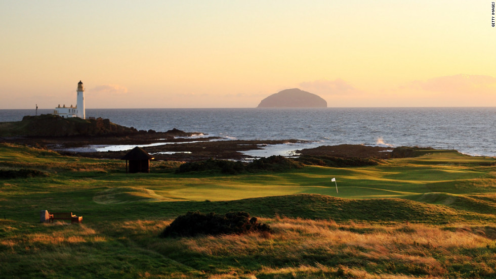 "Built in 1901, Turnberry is a classic Scottish links, with rolling hills, sandy dunes and strong winds coming off the Ayrshire coast. Made up of three courses, Turnberry has hosted four British Opens on its Ailsa layout, most notably 1977's ""Duel in the Sun"" between Jack Nicklaus and Tom Watson."
