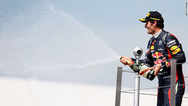 Australian driver Mark Webber  is second in the world championship after his win at Silverstone.