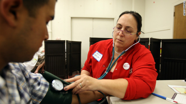 Allison Miller was among the nurses and doctors giving free care in July in the Los Angeles area.