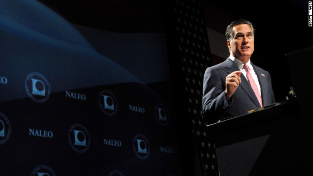 Mitt Romney at the National Association of Latino Elected and Appointed Officials conference in Orlando, Florida, on June 21.