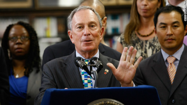 "New York Mayor Michael Bloomberg said Thursday ""We have a right to hear"" from the presidential candidates on guns."