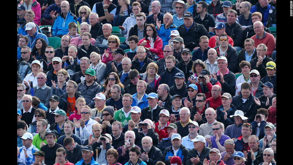 Spectators enjoy the action during the second round on Friday.