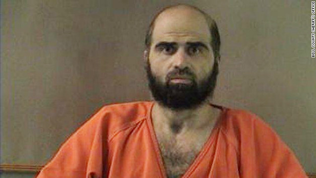 Maj. Nidal Hasan is accused of killing 13 people and wounding 32 others.