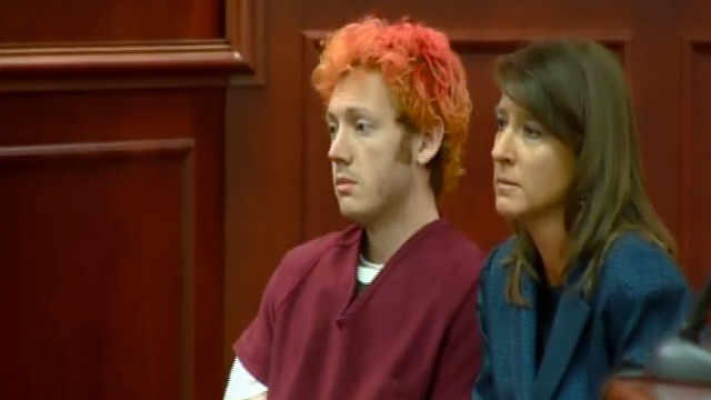 Colorado shooting suspect James Holmes appears in court Monday, July 23.