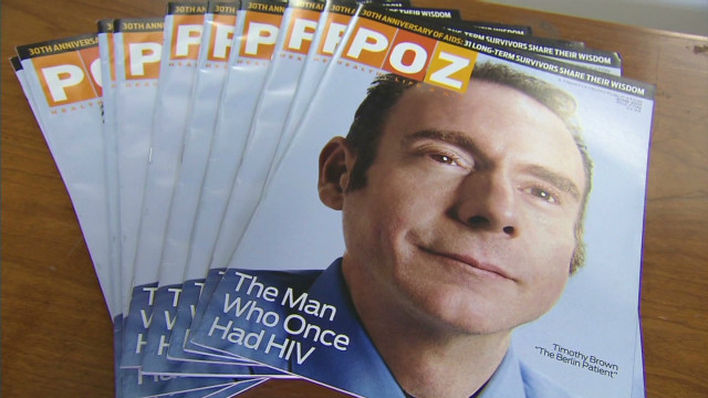Timothy Brown on the cover of POZ magazine
