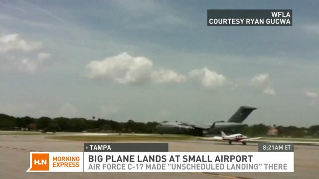 Cargo plane nails short runway landing
