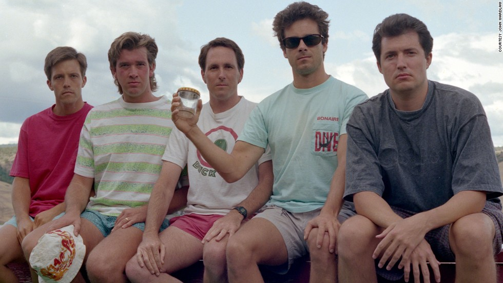 From left to right: John Wardlaw, Mark Rumer, Dallas Burney, John Molony and John Dickson in 1992.
