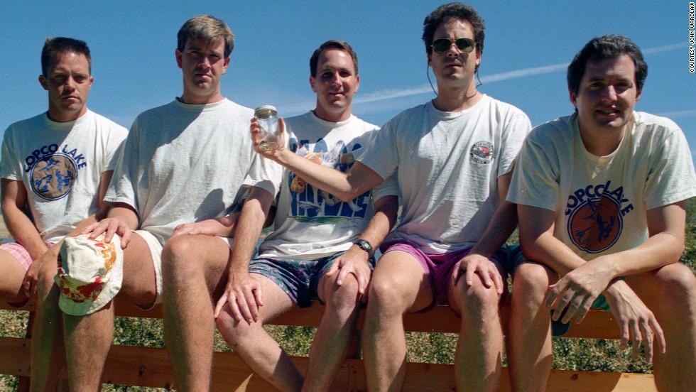 From left to right: John Wardlaw, Mark Rumer, Dallas Burney, John Molony and John Dickson in 1997.