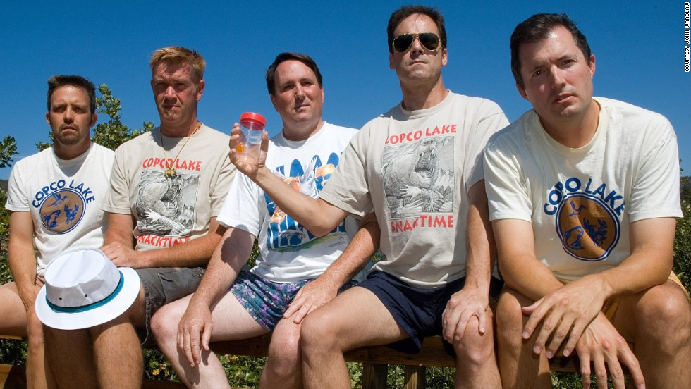 From left to right: John Wardlaw, Mark Rumer, Dallas Burney, John Molony and John Dickson in 2007.