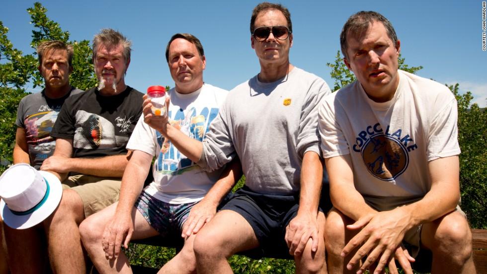 From left to right: John Wardlaw, Mark Rumer, Dallas Burney, John Molony and John Dickson in 2012.