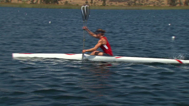 U.S. kayaker paddles toward Olympic gold