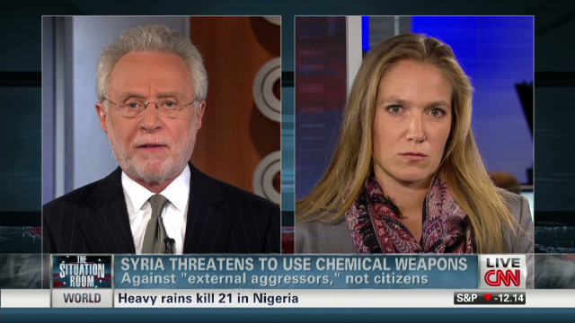 Syria threatens to use chemical weapons
