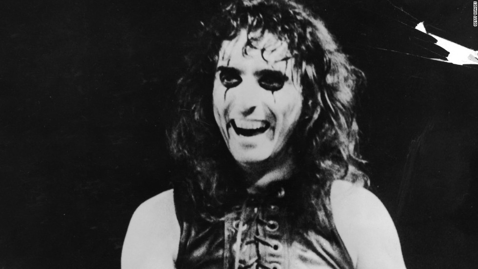 Alice Cooper made his stage show into a comic-book house of horrors, complete with snakes, decapitated dolls and a guillotine.