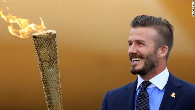 David Beckham supports Olympics