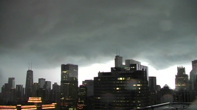 Watch time-lapse of severe Chicago storm