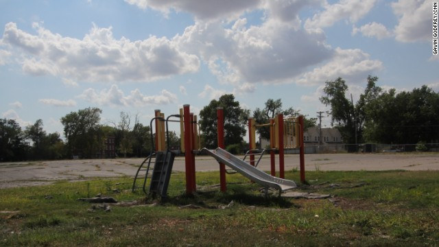 Financial problems and urban blight have left many East St. Louis schools, like Miles D. Davis Elementary, in a state of disrepair.