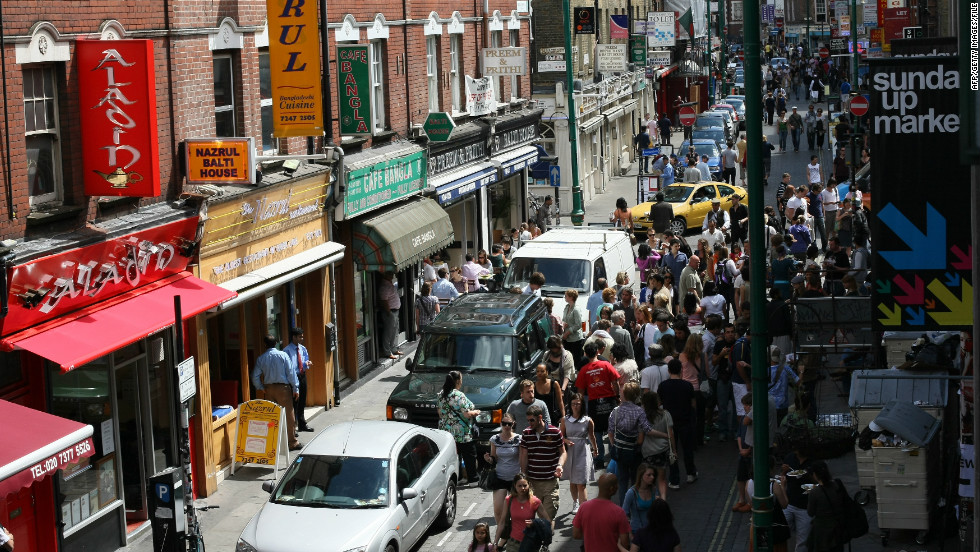 East London has long been home to the capital's working, criminal and creative classes. Brick Lane market is a testament to the area's diversity.
