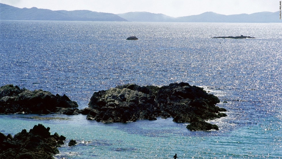 The Ring of Kerry in Ireland is known for its sandy beaches and ancient ruins.