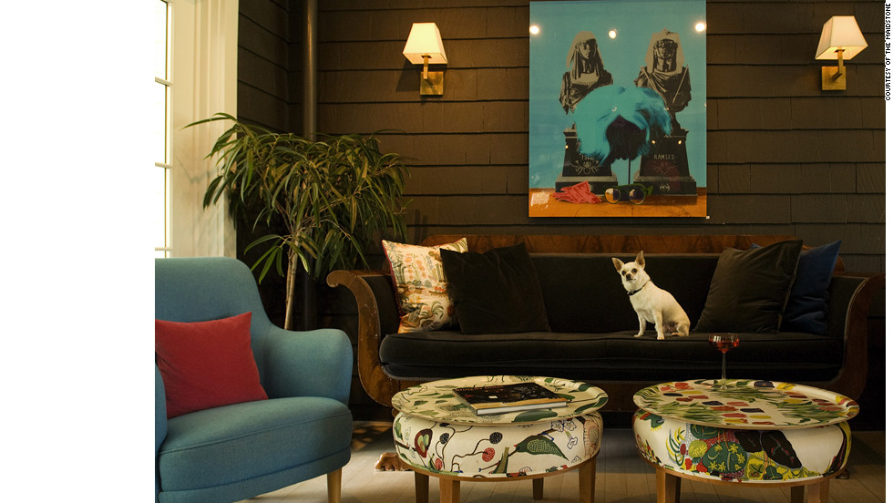 A celebration of Scandinavian success, The Maidstone in East Hampton, New York, features famous natives of the region like Hans Christian Andersen throughout its rooms. It will also appeal to those traveling with pets, as it offers a dog-friendly menu.