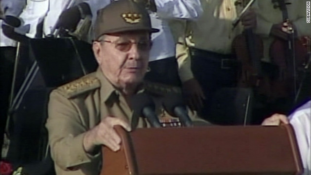 """If they want to discuss the problems of democracy ... we will discuss them,"" Cuban President Raul Castro said Thursday."