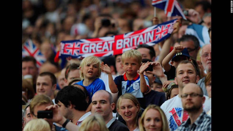 Great Britain fans attend the Group A Match between Great Britain and Senegal on Thursday in Manchester.