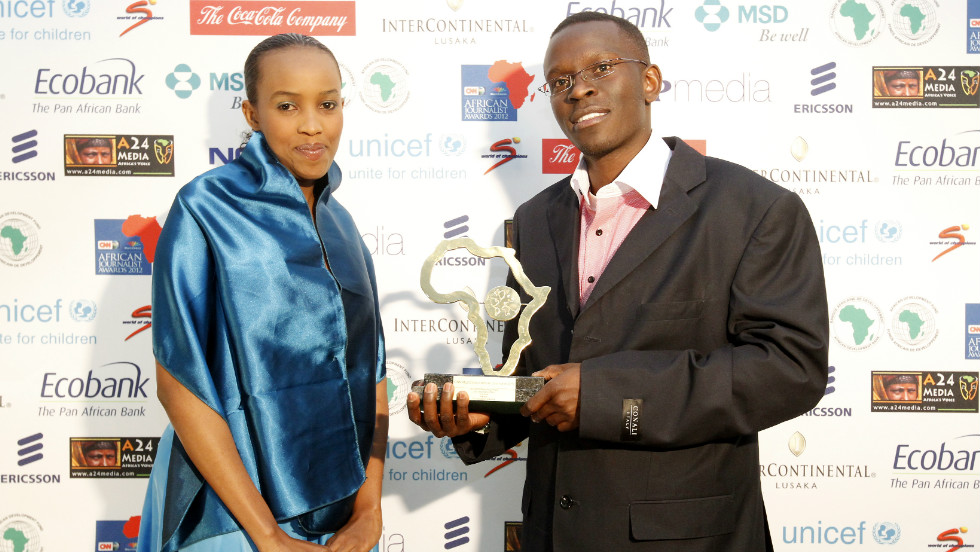 "Kenyan journalist John Muchangi Njiru's piece, ""Inside the life of Nairobi male sex workers"" won him the award for HIV/AIDS Reporting Award."