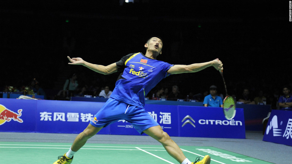 Lin Dan, four-time world champion, will represent China in the sport of badminton.